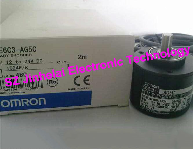 New and original E6C3-AG5C 1024P/R OMRON ROTARY ENCODER 12-24VDC 2M e6hz cwz6c 1024p r rotation rotary encoder new in box