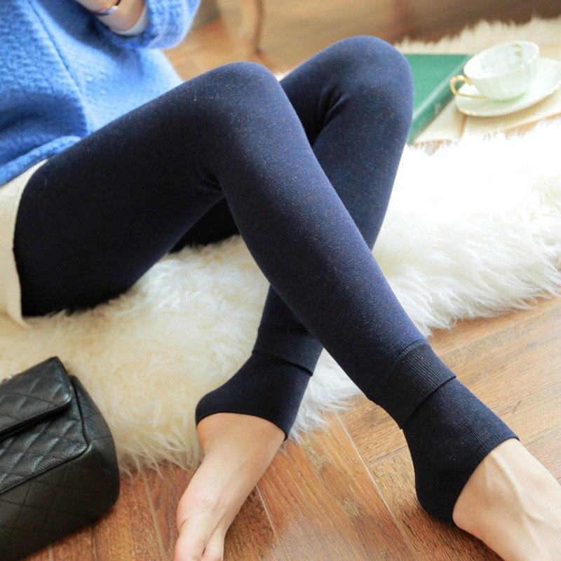 Feilibin Winter Women Leggings Thick Winter Warm Pants High Waist Slimming Thicken High Elastic Women s