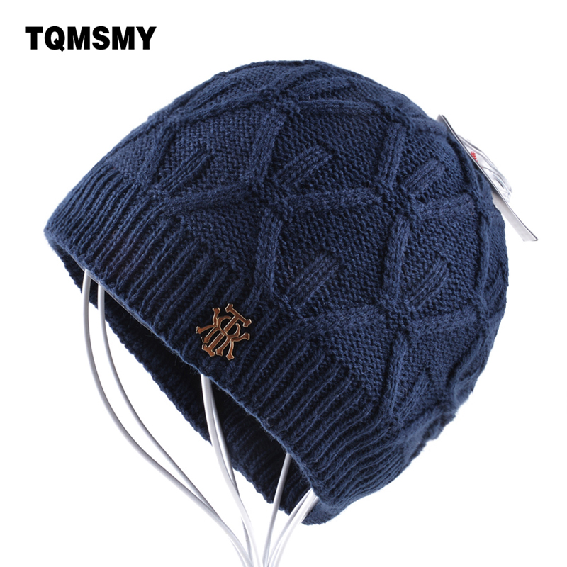 Men's winter beanie knitted wool hat men plus velvet caps Thicker mens hats beanies for women Hip Hop Cap Unisex bone Skullies hot sale winter cap women knitted wool beanie caps men bone skullies women warm beanies hats unisex casual hat gorro feminino