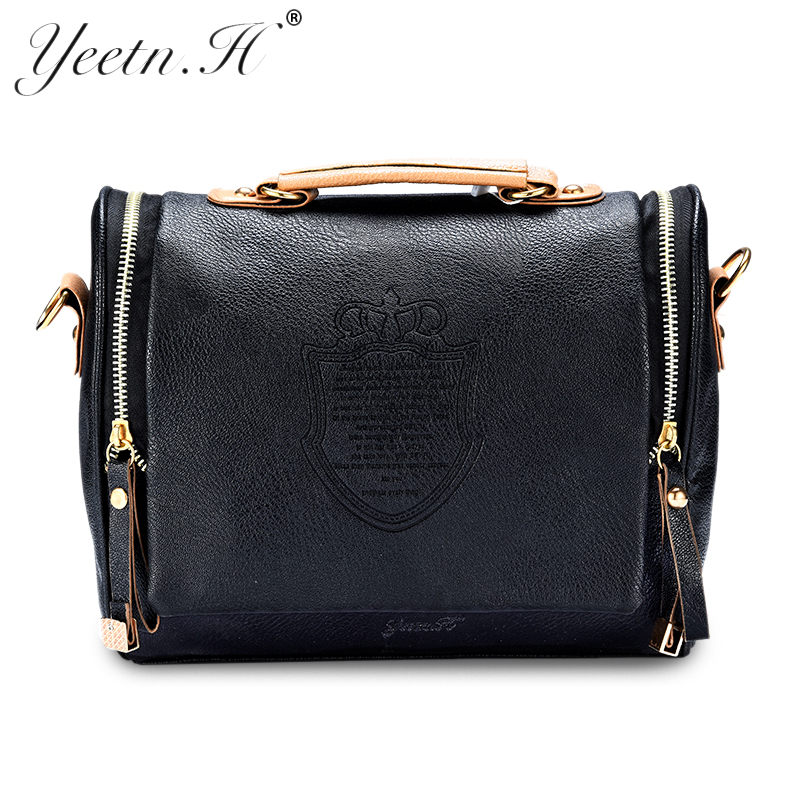 Messenger-Bags Cross-Body-Bag Barrel-Shaped Pu Women New-Arrival title=