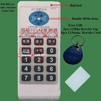 125 khz/13.56 mhz id ic rfid cartão copiadora duplicador leitor escrever 9 frequecny compatível m4305 5200 t5577 uid & 5tag cartão