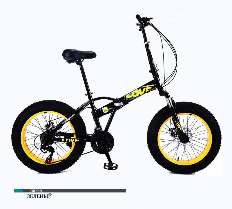 HTB1Wa5CXoT1gK0jSZFrq6ANCXXaE Folding bicycles for men and women snow bicycles portable bicycle shifting shock absorption small wheel 20 inch mountain bike