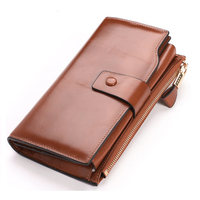 YaHe Hot Luxury Multifunctional Genuine Leather Women Wallet Fashion Hasp Zipper Coin Purse High Quality Wholesale