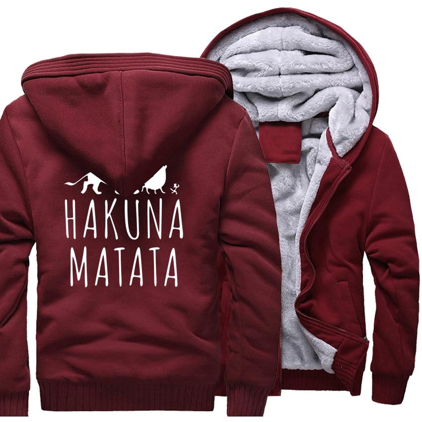 HAKUNA MATATA Letter Print Streetwear Hoodies Men 2017 New Arrival Sweatshirts Harajuku Brand Thick Tracksuit Casual Men's Hoody