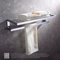 HIDEEP Ванная комната полки Медь хромирование стену Алюминий Аксессуары для ванной комнаты двойной Полотенца полки