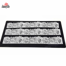 Leaf  Silicone Baking Mat Cake Lace Mold Flower Pattern Fondant Molds Decorative Decorating Tools Color Black