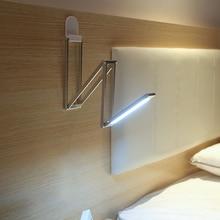POTENCO 4 Section 360 Degree Folding Light Super Bright LED Desk Lamp For Reading Working Camping Lighting Portable Tafellamp