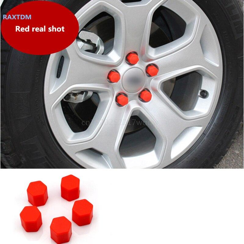 Car Styling 20pcs Silica Caps Hub Screw Protector for Audi A1 A2 A3 A4 A5 A6 A7 A8 Q2 Q3 Q5 Q7 S3 S4 S5 S6 S7 S8 TT TTS RS3-RS6