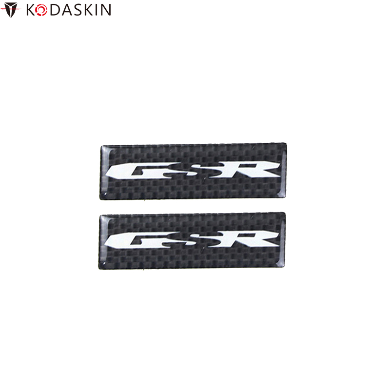 KODASKIN Motorcycle Stickers Carbon Black 3D Decals Logos Emblems Decoration for <font><b>SUZUKI</b></font> <font><b>GSR</b></font> <font><b>125</b></font> 250 400 600 750 image