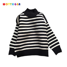 WOTTAGGA 2018 Girl Cardigan Solid Tassel O-neck Pearl Kids Clothing Pure Autumn New Fashion Coat Kids Sweater Fashion 3-7Y цена