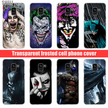 SHELI Joker Batman Transparent Hard Case for Samsung Galaxy A3 A5 2017 A6 A7 A9 A8 2018 plus A30 A40 Galaxy Note 9 8(China)