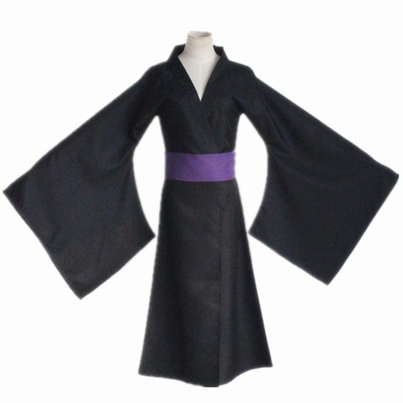 Nouveau Anime Noragami Cos Noragami Cosplay Halloween Kimono vêtements de tous les jours peignoir bataille ensemble complet 3in1 (Kimono + pantalon + ceinture)