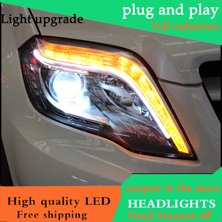 Car Styling Head Lamp For Benz GLK 300 2012 2015 Headlights LED Headlight Daytime Running Light