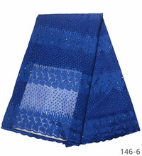 Royal Blue French Lace Fabric Women Wedding, African Fabric, High Quality Tulle 146