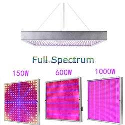 150 w 600 1000 w alta potência planta lâmpada ac85 265 v espectro completo led plantas de efeito estufa hidroponia flor painel crescer luz