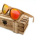 Bobobird Vintage Bamboo Wooden Sunglasses Handmade Polarized Mirror Coating Lenses Eyewear in Wood Box BS011