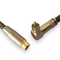 Video Cable S-video to RCA 90 Degree Angle TV STB Projector Conventor Cable Shielded OFC 1M 2M 3M