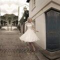 2016 Ball Gown Bateau Short Sleeve Covered Buttons vestido de noiva curto Robe de mariage Knee Length Cute Short Wedding Dress