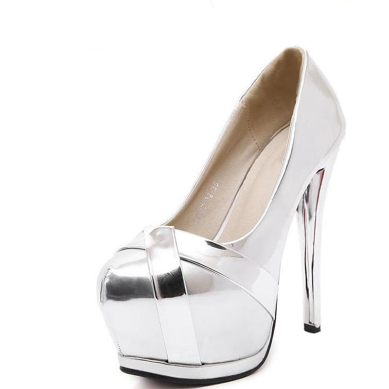 In The New 15cm Super High Heels With Fine Silver Shoes And Fashion Shoes Waterproof Nightclub Sexy Female 2015 new high heeled shoes sexy shoes fine with waterproof ultra high heels nightclub 16cm red wedding shoes