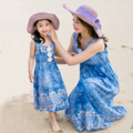Family Fitted Mother and Daughter Dresses Summer 2017 New Girls Bohemian Beach Dress Family Clothing Large Size Women Dress