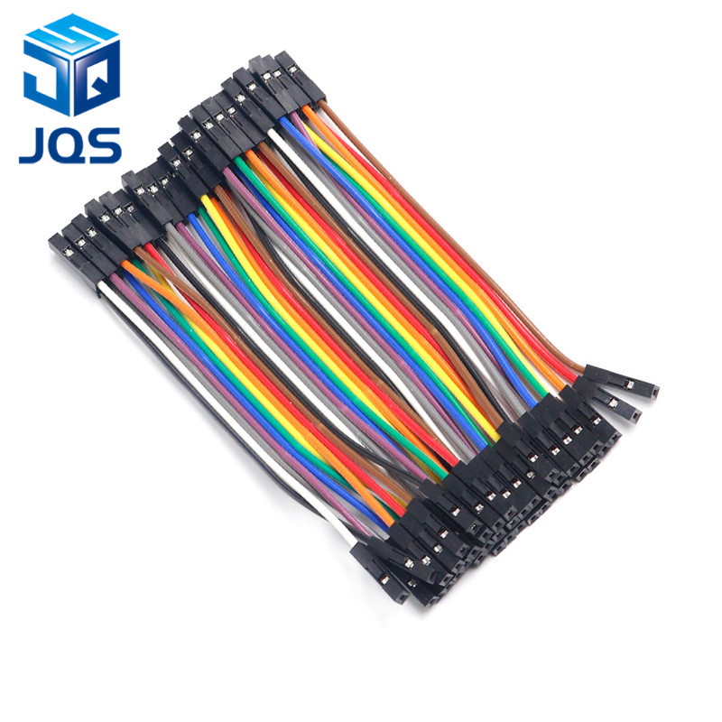 40PCS Dupont 10CM Female To Female (F-F) Jumper Wire Ribbon Cable For Arduino