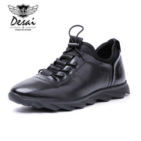 Desai 2017 Men Shoes Genuine Leather Luxury Brand Italian Designer Men S Casual Trainers Shoes Slip