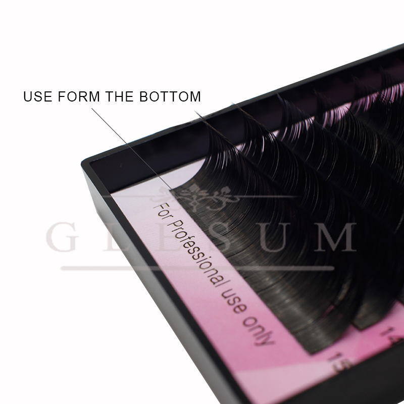 GLESUM  Ellipse Extension Lashes 8-15 Mixed 12 Lines Matte Cashmere Flat Eyelash Extensions Ellipse With Free Shipping