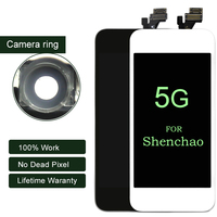 10pcs DHL For ShenChao Quality 100 Guarantee No Dead Pixel Black And White For IPhone 5