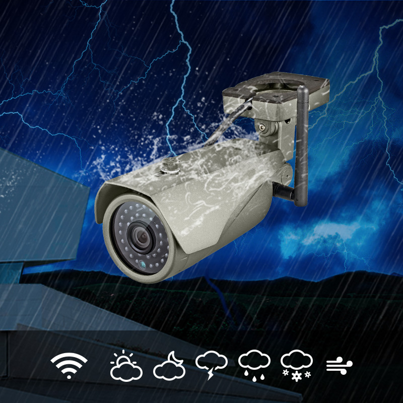 Image 2 - IP67 Waterproof 1080P HD Wireless Outdoor Indoor Wifi IP Camera 2MP Security CCTV Camera P2P Motion Detection For WG11 PG103 106-in Surveillance Cameras from Security & Protection