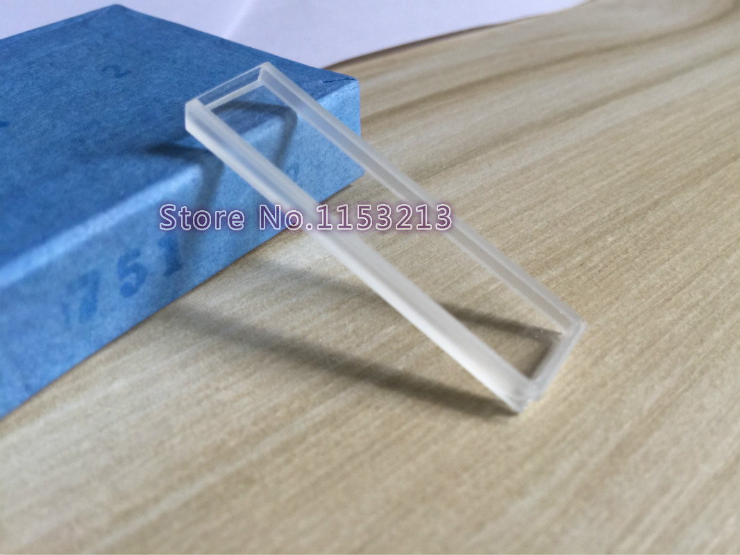 10 pcs pack High quality Melt glass cuvette 0 4ml optical glass 1mm cell cuvette Sided
