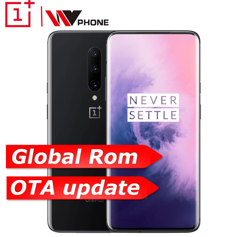 Global Oneplus 7 Pro 6 ROM GB 128 GB Smartphone 6.67 de polegada Câmera Triplo 30 48MP W Carregador NFC 4000 mAh Snapdragon 855 Tela AMOLED