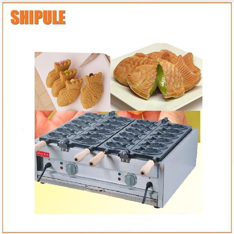 Newly designed fish shaped waffle making /maker machine/taiyaki waffle making machine high quality automatic gas taiyaki fish cake making machines