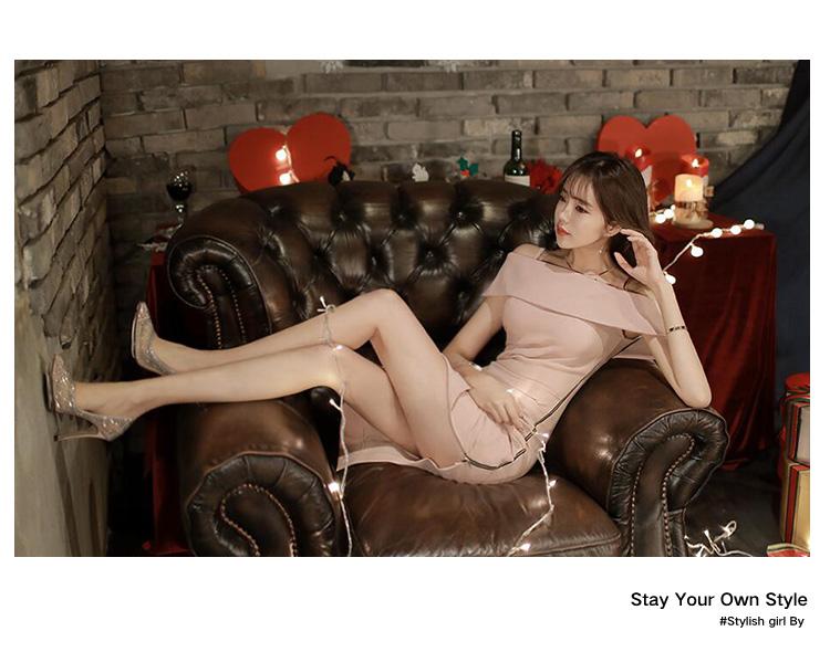 HTB1Wa84PFXXXXazaXXXq6xXFXXXY - Pink Slim Sexy Off The Shoulder Sleeveless Ladies Zippers Bodycon Party Dress JKP025