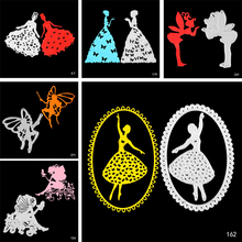 ZhuoAng Girls Metal Cutting Dies Scrapbooking Embossing DIY Decorative Cards Cut Stencils