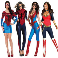 Halloween Clothing New Pattern Cosplay Sexy Woman Superman Clothing Evening Show Spider Chivalrous Stage Show Serve