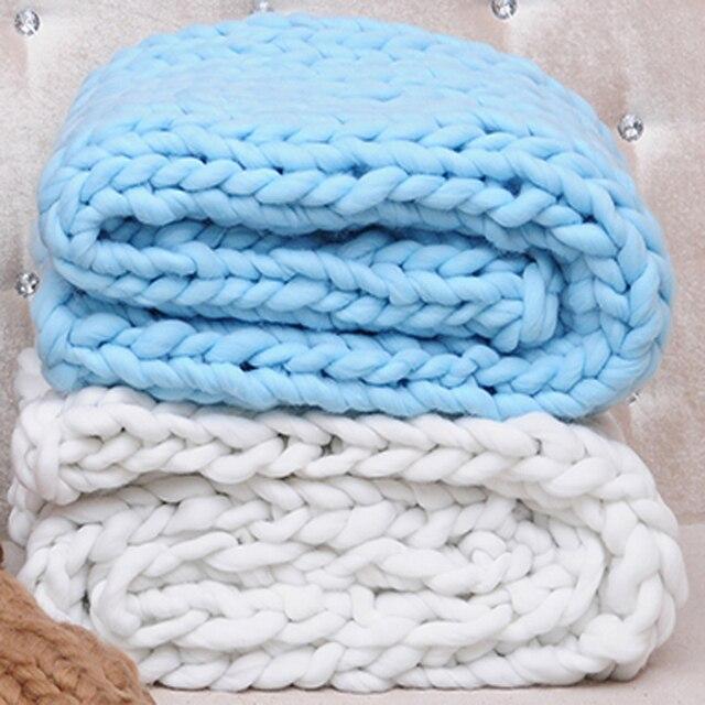 одеяло из мериносовой шерсти толстые пряжа громоздкие трикотажные