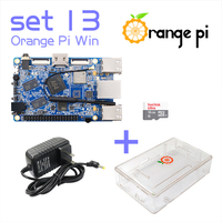 Orange Pi Win SET13: Pi Win + Transparent ABS Case+ Power Supply+ 16GB Class 10 Micro SD Card Beyond Raspberry