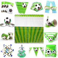 Football Theme Props Plate Banner Invitation Card Kids Birthday Party Decor Baby Shower Party Supplies set Party Decoration