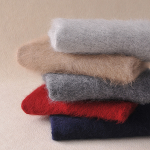 Image 4 - Mink Cashmere Sweater Men Long Sleeve Pullovers Outwear Man V Neck sweaters Tops Loose Solid Fit Knitting Clothing 9 Colors New