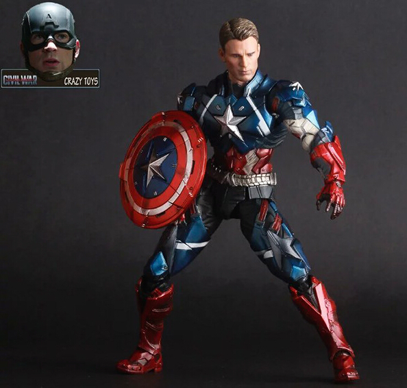 NEW hot 17cm Captain America Civil War avengers Super hero movable collectors action figure toys Christmas gift doll with box new hot 18cm super hero justice league wonder woman action figure toys collection doll christmas gift with box