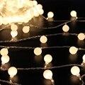 6 M LED Luz de Hadas de la Energía de La Batería 50 LED String Luz de Navidad En Forma de Bola Wedding party Festival Celebración Decoración de la Cortina