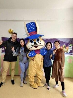 Cosplay Costumes pâques lapin mascotte costume Bugs lapin lièvre pâques adulte mascotte