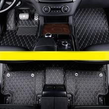 Di fiber di cuoio auto di fiber di cuoio pavimento mat interni per mercedes benz classe M 2005-2019 w164 w166 gle300 gle400 gle500 ml550