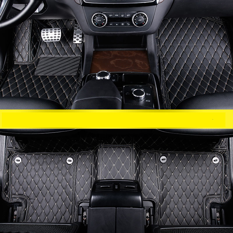 Fiber Leather Fiber Leather Car Floor Interior Mat For