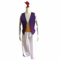 2018 Aladdin Lamp Prince Aladdin Costume Halloween Anime Cosplay Fancy Dress Adam prince Costumes