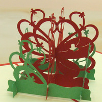 10 פרפרים יח'\חבילה כרטיס הזמנה לחתונה לחתוך לייזר 3D מעוקב פרח סל כרטיסי ברכה
