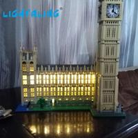 Building Blocks Model Decorate Light Set Compatible With Lego Big Ben House Model Creator Accessories Kit