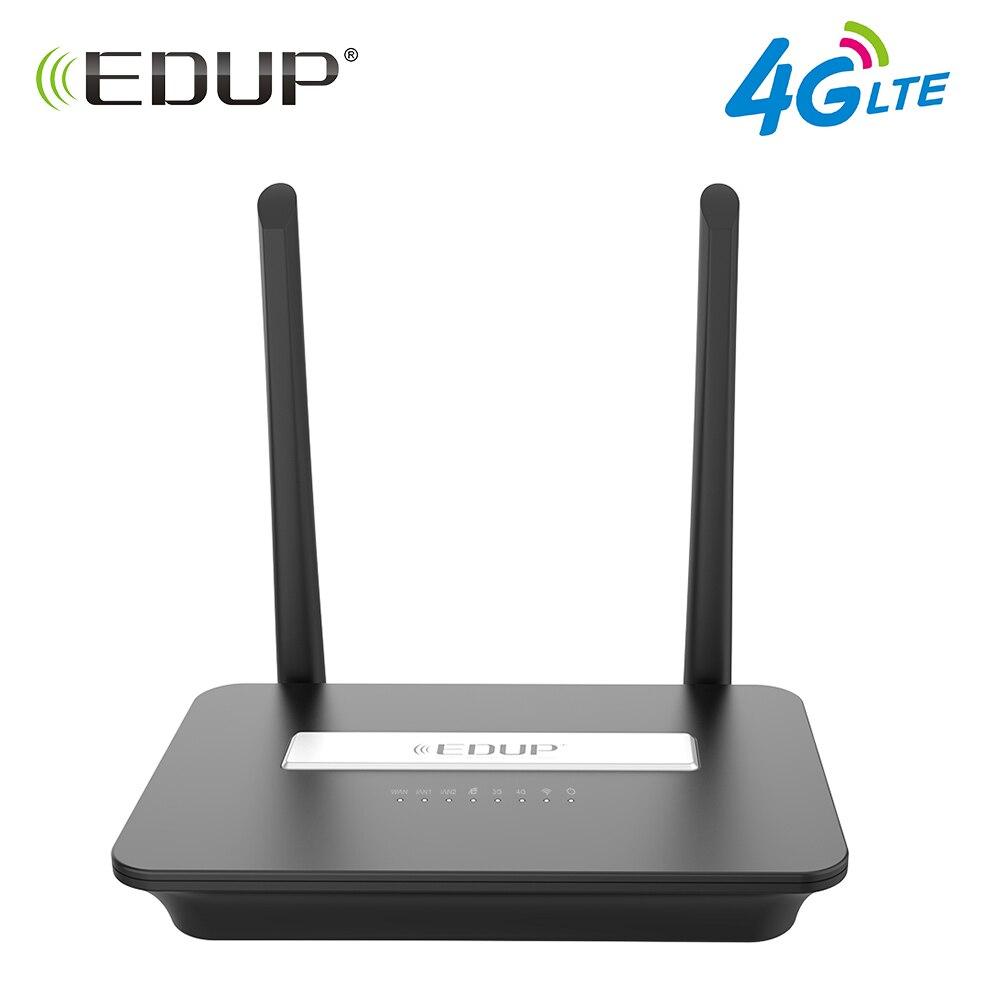 EDUP 300 Mbps 4g LTE FDD Wireless Router Wifi 802.11b/g/n Wi-Fi Router Mobile Hotspot Router CPE con Slot Per Sim e Porta LAN