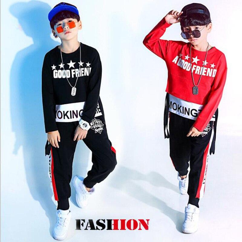 Kids Hip Hop Party Clothing Dance Costume For BOYS Cropped Sweatshirt Shirt Top Jogger Pants Jazz Ballroom Dancing Street Wear
