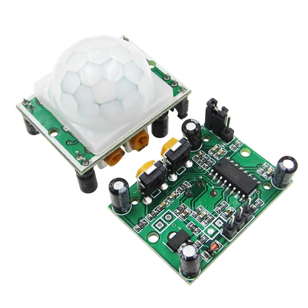 100PCS HC SR501 HCSR501 Adjust IR Pyroelectric Infrared PIR module Motion Sensor Detector Module